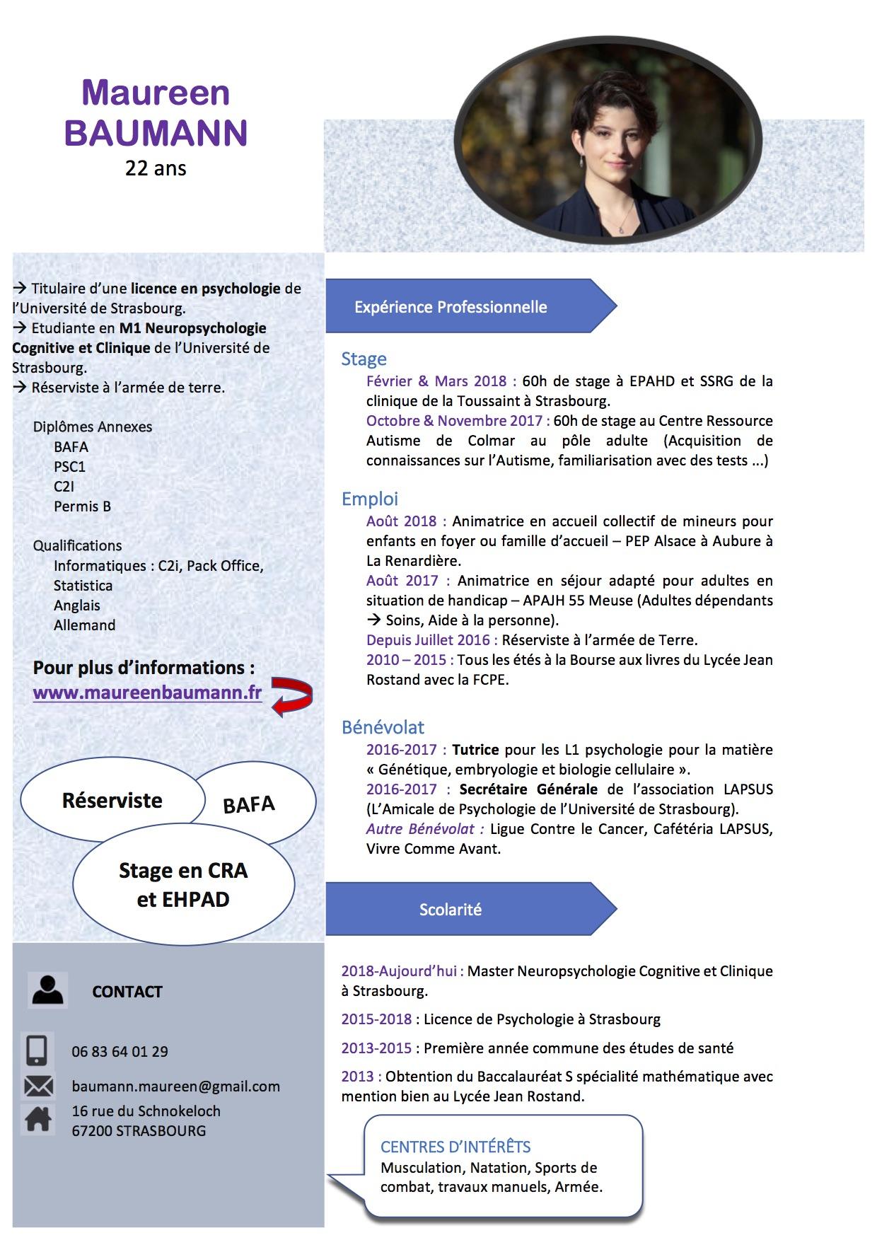 maureen baumann  u2013 etudiante en master 1 de